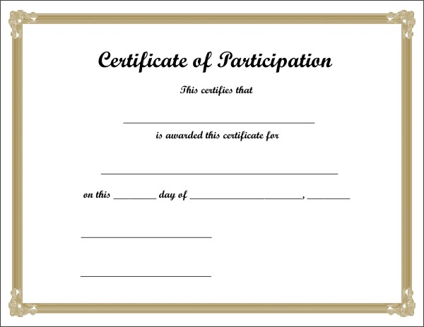 Download Free Printable Certificate - 1