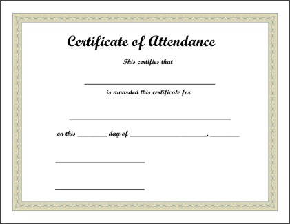 PRINTABLE CERTIFICATES: July 2008