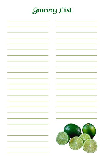 Printable Grocery List 3