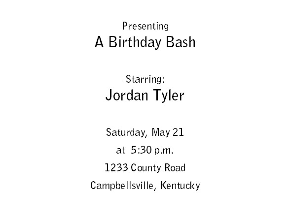 Free Printable Birthday Invitations 1