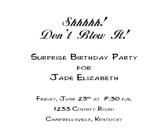 It is an image of Free Printable Surprise Birthday Invitations in birthday invite sweet sixteen png