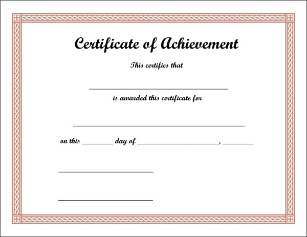 It is a picture of Free Printable Certificates of Achievement with regard to accomplishment
